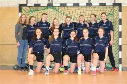 Das Gymnasium Nordhorn beim Landesentscheid JtfO Handball.