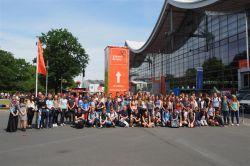 Die Gruppe des Gymnasiums Nordhorn bei der IdeenExpo 2017.