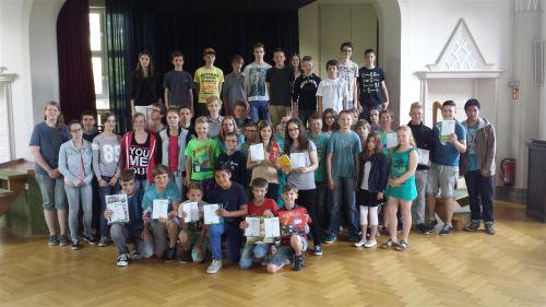 Preisträger und Teilnehmer Känguru 2014 am Gymnasium Nordhorn.