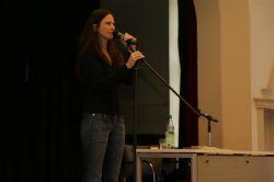 Poetry Slam mit Theresa Sperling am Gymnasium Nordhorn.