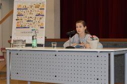 Vorlesewettbewerb 2017: Die Siegerin Amelie Drechsler.